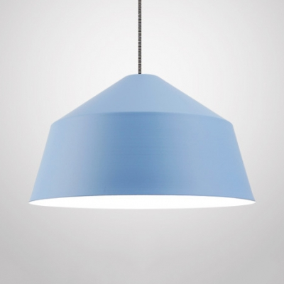 Metal Tent Shade Hanging Light Living Room 1 Light Modern Nordic Candy Colored Suspension Light