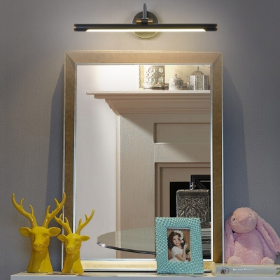 Antique Black LED Wall Light Rotatable 14/18/23 Inch Metal Vanity Light in Neutral for Mirror
