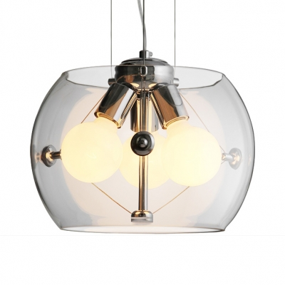 Awesome Glass Drum Shade Chandelier Living Room Three Lights Modern Stylish Download Free Architecture Designs Grimeyleaguecom