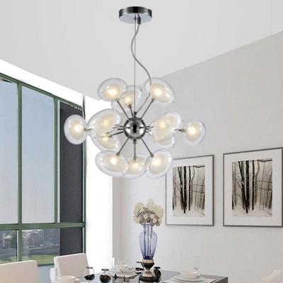 Restaurant Grape Shaped Ceiling Pendant Glass 12 Lights Modern Creative Chandelier
