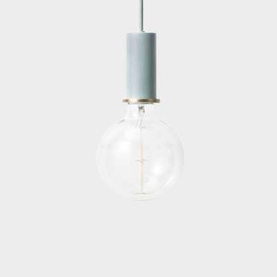 Aluminum Fluted Pendant Light Single Light Nordic Style Candy Colored Hanging Light for Display Window