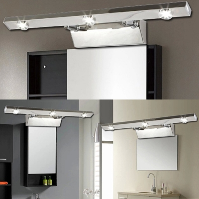 Gallery Linear LED Picture Light Stainless Steel 18 Inch Rotatable Wall Light in Warm/White