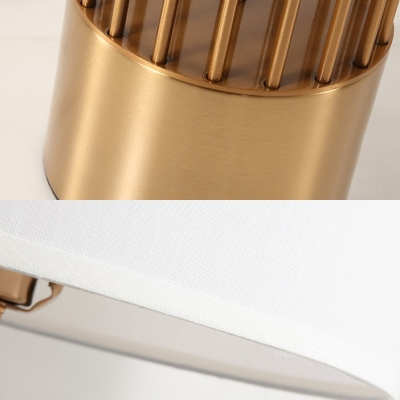 Metal Hollow Cylinder Desk Light Hotel Single Light Simple Style Reading Light in White