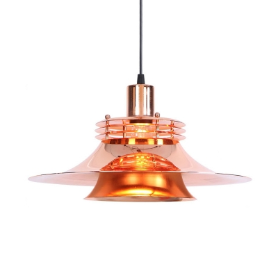 Modern Height Adjustable Ceiling Light 1 Light Metal Pendant Light In