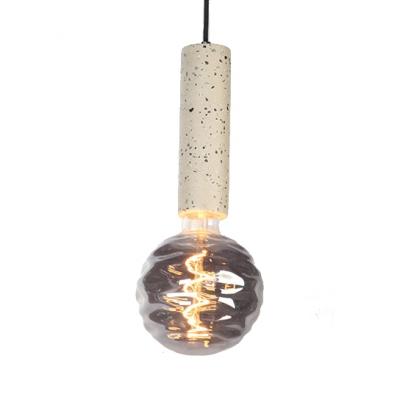 Nordic Black/White Pendant Light Orb 1 Light Cement & Dimple Glass Hanging Light with Warm/White Lighting for Bar