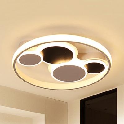 Abstract Shape LED Flush Mount Light Contemporary Metal Ceiling Light in Warm/White for Kindergarten