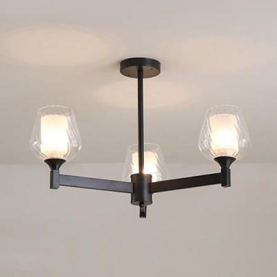 Bud Shade Hallway Pendant Light Metal Glass 3 6 8 Lights American