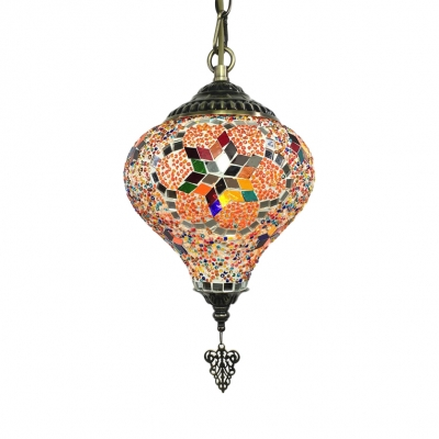 1/6 Pack 1 Light Pendant Light Heart Shape Moroccan Stained Glass Hanging Lamp for Bedroom(not Specified We will be Random Shipments)