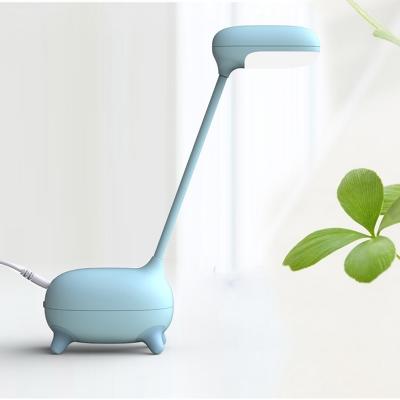 1 Head Giraffe LED Desk Lamp Touch Switch Eye-Caring Reading Light in Blue/Pink/White for Bedroom