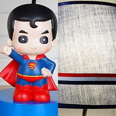 Cartoon Movie Theme Desk Lamp Fabric 1 Light Blue Eye-Caring Reading Light for Boys Bedroom