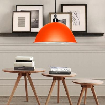 Nordic Stylish Hanging Light Dome Shade 1 Light Metal Suspension Light for Restaurant Shop