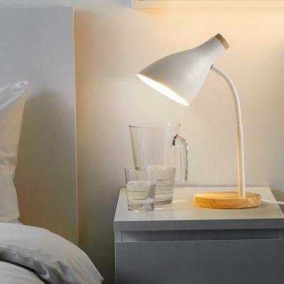 Macaron Colored LED Desk Light with Flexible Gooseneck 1 Light Modern Metal Study Light for Dormitory