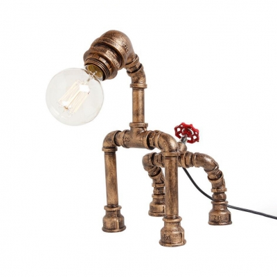 Metal Animal Desk Light Single Bulb Industrial Reading Lighting in Black/Bronze for Study Room