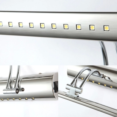 Stainless Steel Linear Wall Light Modern 16/21.5/27.5 Inch LED Vanity Lighting for Dress Room