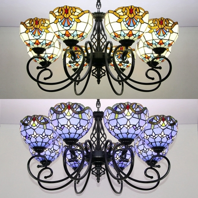 Tiffany Style Victorian Ceiling Light
