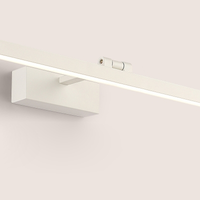 White Angle Adjustable Wall Sconce Modern Acrylic Tube LED Vanity Lighting for Bathroom