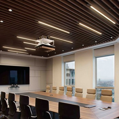 23.5/47 Inch Linear Ceiling Light Recessed Long Life Modern LED Ceiling Fixture for Meeting Room