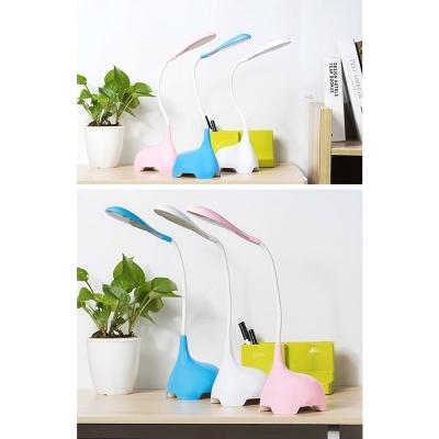 Blue/Pink/White Elephant Desk Lamp 3 Lighting Modes Cute LED Reading Light for Child Bedroom
