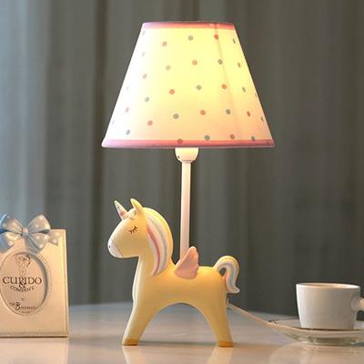 Blue/Pink/Yellow Unicorn Reading Lamp 1 Light Lovely Resin Desk Light for Study Room