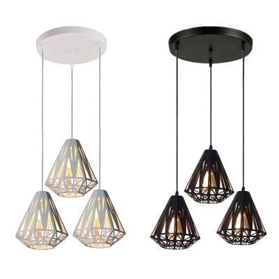 Living Room Diamond Hanging Lamp Metal