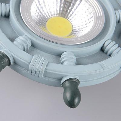 Rudder LED Flush Mount Light 1 Light Creative Metal Ceiling Light in Warm/White for Kindergarten