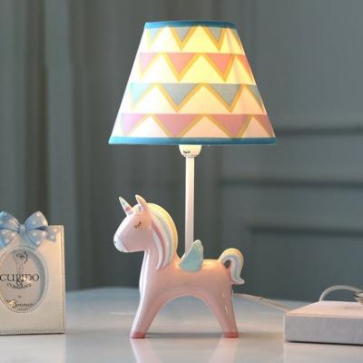 Unicorn Child Bedroom Desk Light Dimmable Resin 1 Light Cartoon LED