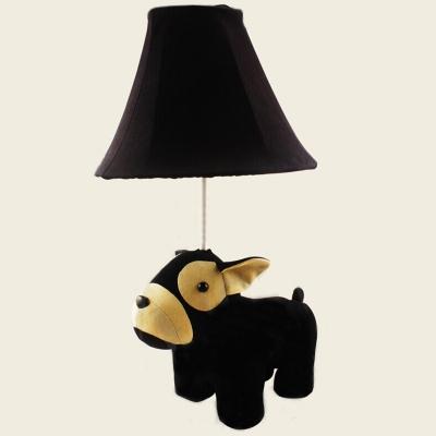1 Light Toy Animal Desk Lamp Lovely Fabric Reading Light in Beige/Black/Blue/Pink for Kid Bedroom