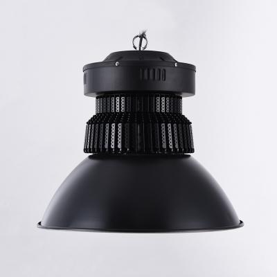 100/150W Black Dome Bay Lighting 1 Head High Brightness Aluminum LED Pendant Light for Gallery Factory