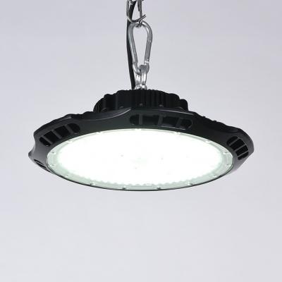 100/150W Slim UFO Bay Lighting Aluminum Super Bright Black LED Hanging Lamp for Showroom Stadium