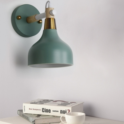 Rotatable Metal Onion Wall Light One Light Nordic Style Candy Colored Wall Lamp for Kitchen