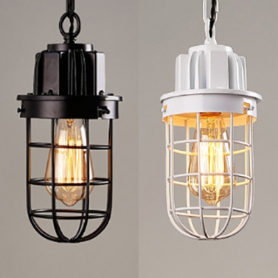Vintage Bulb Wire Frame Pendant Light 1