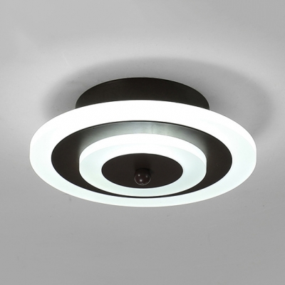 Acrylic Round Ceiling Mount Light Adult Child Bedroom Nordic Style Ceiling Lamp in Warm/White