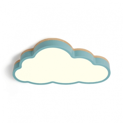 Contemporary Cloud LED Ceiling Mount Light Blue/Pink/White Ceiling Lamp with White Light/Third Gear for Bedroom