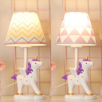 Lovely Cute LED Desk Light Unicorn 1 Light Resin Plug In Reading Light for Baby Bedroom