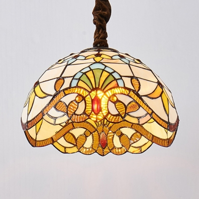 Stained Gl Bowl Pendant Lighting 1
