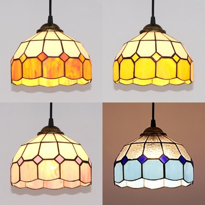 Contemporary Dome Pendant Lighting 1 Light Gl Ceiling In