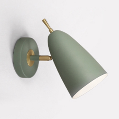Domed Shape Wall Light 1/2 Head Macaron Loft Metal Wall Light in Black/Green/Pink/Yellow for Hallway