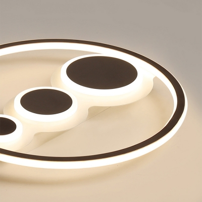 Acrylic Round LED Flush Light Contemporary Stepless Dimming/Warm/White Ceiling Mount Light for Bedroom