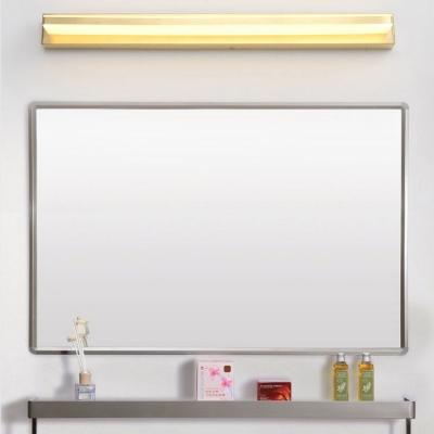 Modern Gold Vanity Lighting Rectangle Aluminum Anti-fogging LED Wall Sconce for Dressing Table