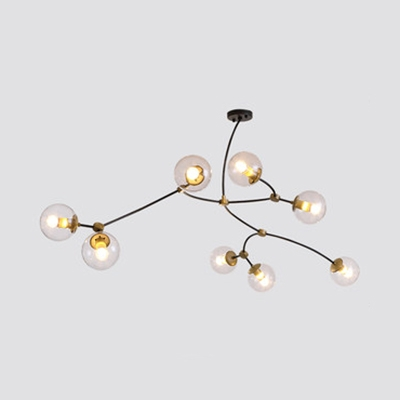 Globe LED Chandelier Modern Contemporary Sputnik 3/4/8 Light Chandelier in Painted Finish
