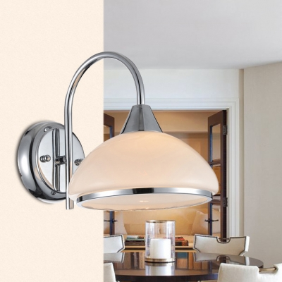 Dome Shade Kitchen Wall Lamp Metal One Light Traditional Sconce