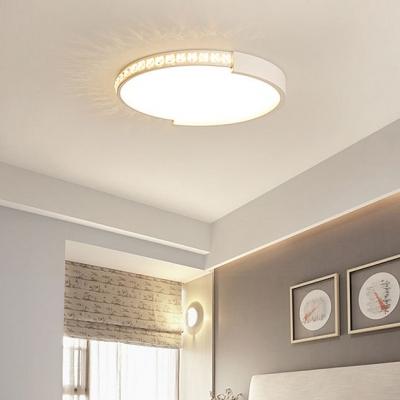 Slim Panel LED Ceiling Mount Light Contemporary Acrylic Flush Mount Light with White Lighting for Child Bedroom