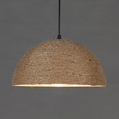Dome Shade Hanging Lamp 1 Light Rustic