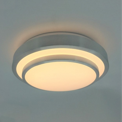 Circular Led Ceiling Mount Light Acrylic Warm White Remote Control