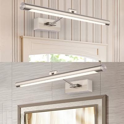 Linear Bedroom LED Vanity Lighting Rustproof Acrylic Modern White Lighting Wall Light in Nickle