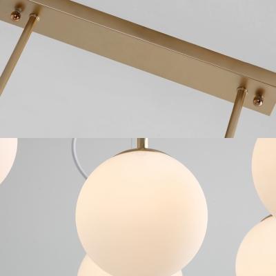 Gold Branch Hanging Light with Resin Bird 1/3/5 Lights Metal Glass Ceiling Light for Restaurant