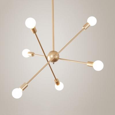 Contemporary Spar Chandelier Light 6 8 Lights Metal Pendant In