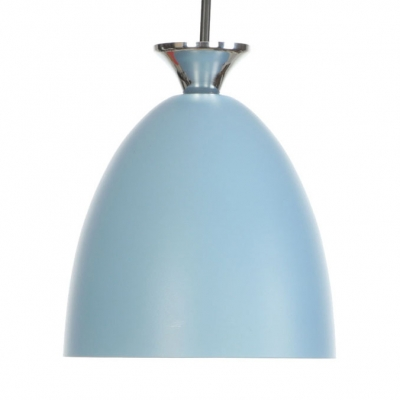 Metal Dome Shade Hanging Light Living Room 1 Light Macaron Ceiling Light with Adjustable Cord