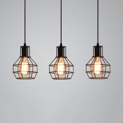 Antique Style Wire Frame Pendant Lamp 3