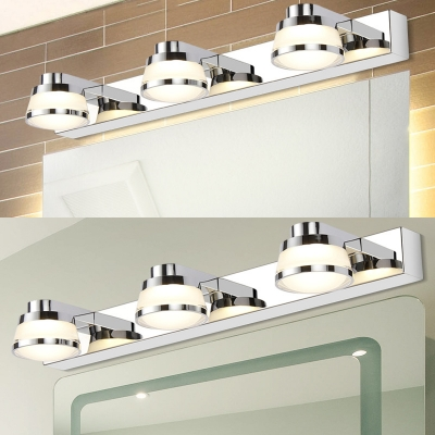 Urn Bathroom LED Vanity Light Stainless Steel 3 Lights Waterproof Wall Light in Warm/White